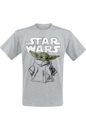 STAR WARS The Mandalorian - Child Sketch T-Shirt meliert