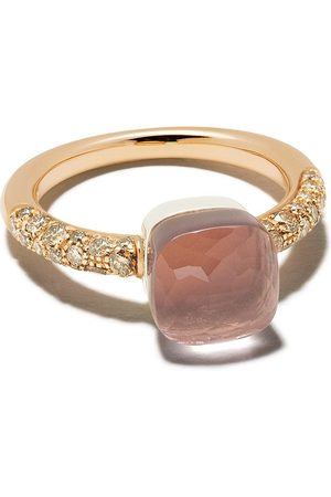 Pomellato 18kt Rotgoldring mit Diamanten - PINK