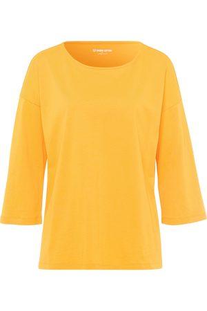 Green Cotton Damen Longsleeves - Shirt