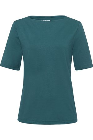 Green Cotton Damen Shirts - T-Shirt U-Boot-Ausschnitt