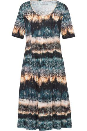 Green Cotton Jersey-Kleid mehrfarbig