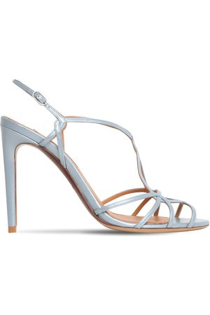 Ralph Lauren 100mm Metallic Leather Sandals
