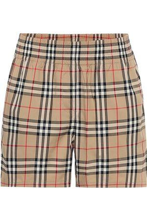 Burberry Karierte Shorts aus Baumwolle