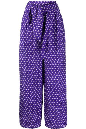 Kenzo Abstract print palazzo trousers - Lila