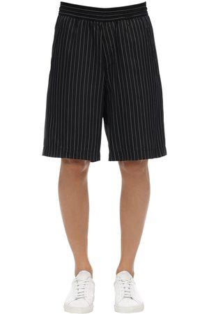 Neil Barrett Oversized Shorts Aus Cupro Und Viskose