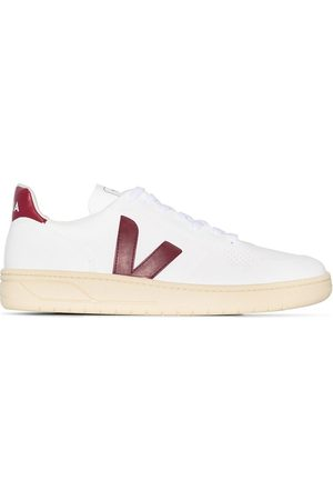 Veja White V-10 butter sole leather sneakers