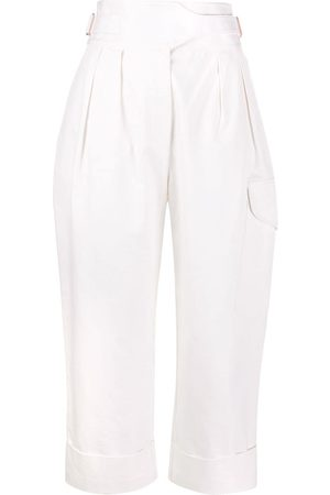 See by Chloé City straight-leg cargo trousers - Nude