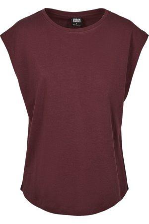 Urban classics Ladies Basic Shaped Tee Girl-Shirt plum