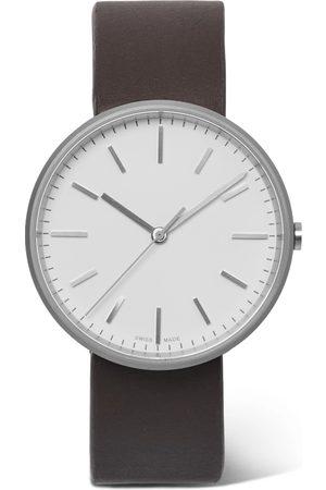 Uniform Wares Herren Uhren - M37 Precidrive Stainless Steel And Leather Watch