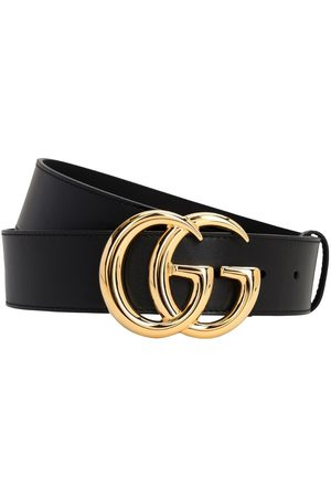 Gucci 40mm Shiny Gg Buckle Leather Belt