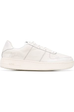 424 FAIRFAX Low top stitch detail sneakers - Nude
