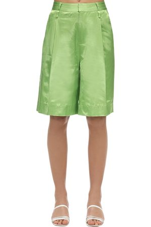 Staud Satin Wide Leg Shorts