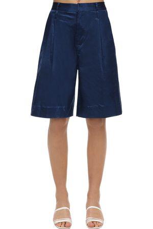 Staud Satin Wide Leg Shorts