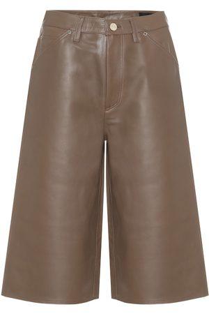 Goldsign High-Rise Shorts aus Leder