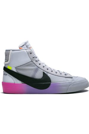 Nike X Off-White 'The 10: Blazer Mid' Sneakers - WOLF GREY/ COOL GREY