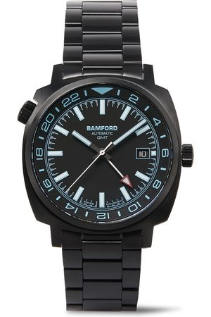 Bamford Watch Department Gmt Automatic 40mm Brushed Stainless Steel Watch