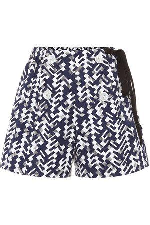 Prada High-Rise-Shorts aus Baumwolle