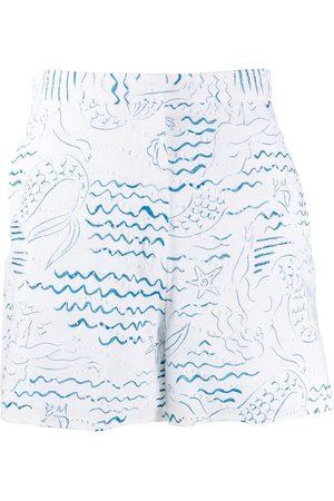 Kenzo Wave Mermaids short - Weiß