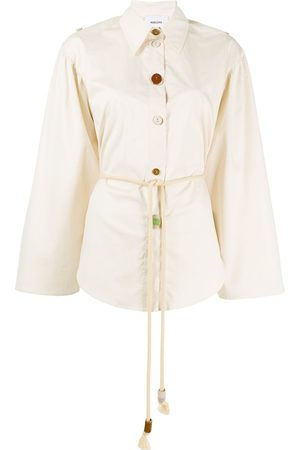 Nanushka Damen Shirts - Tammi ceramic-button shirt - Nude