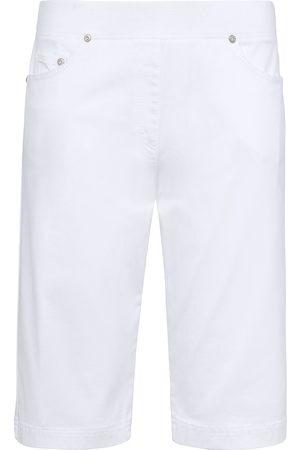 Brax Damen Shorts - ProForm Slim-Schlupf-Bermudas weiss
