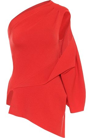 MONSE One-Shoulder-Pullover aus Wolle