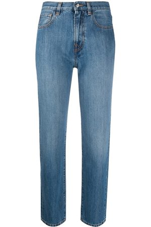 Moncler Gerade Cropped-Jeans
