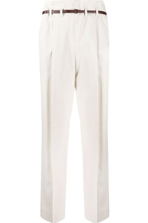 Brunello Cucinelli Belted tailored trousers - Nude