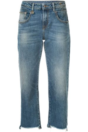 R13 Damen Straight - Gerade Cropped-Jeans