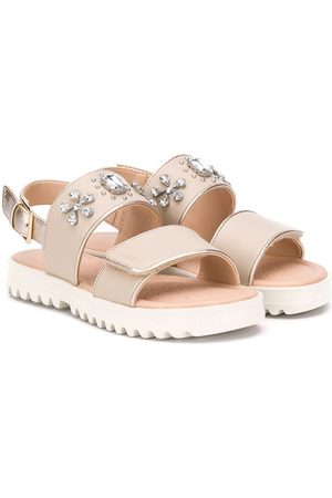 Geox Embellished ridged sole sandals - Nude