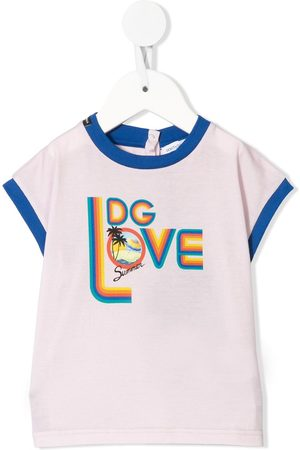Dolce & Gabbana DG love T-shirt - Lila