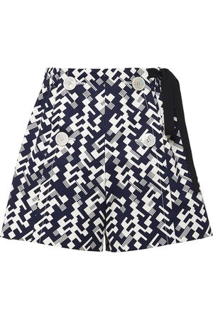 Prada Side-tie geometric shorts
