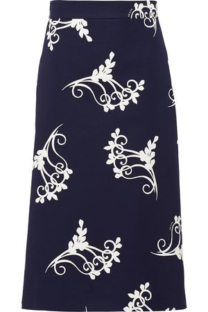 Prada Poplin fan print skirt