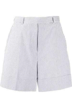 Thom Browne Gestreifte Shorts mit hohem Bund