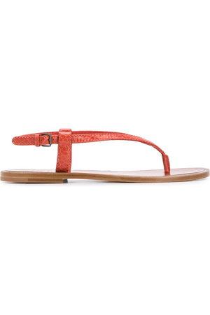 Brunello Cucinelli Snakeskin-effect flat sandals
