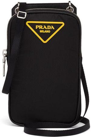 Prada Padded logo-patch smartphone case