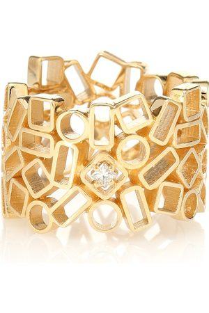 Suzanne Kalan Ring Mosaic Eternity aus 18kt Gelbgold mit Diamant