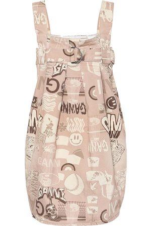 Ganni Bedrucktes Kleid aus Baumwolle