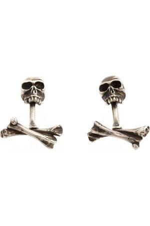 WERKSTATT:MÜNCHEN Manschettenknöpfe mit Totenköpfen aus Sterlingsilber - Metallisch