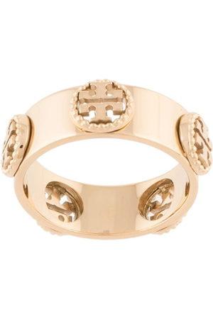 Tory Burch Milgrain' Ring mit Logo-Schild