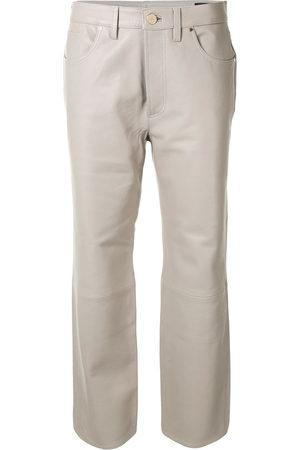 Goldsign Cropped-Hose aus Leder