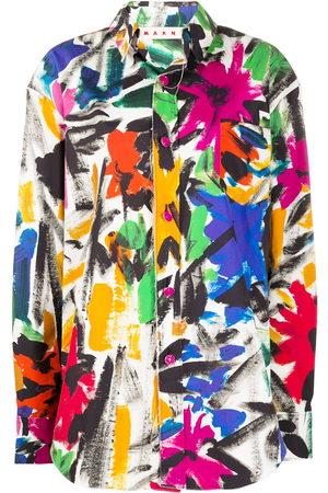 Marni Bluse mit Pinselstrich-Print
