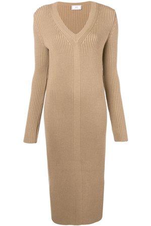 Ami Langes Kleid - Nude