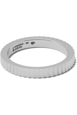 Le Gramme 18kt Red 5g Vertical Guilloche Ring - WHITE