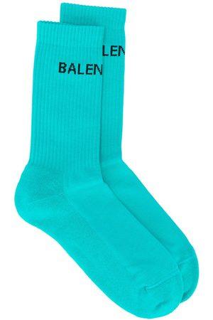Balenciaga Herren Socken & Strümpfe - Gerippte Socken mit Logo