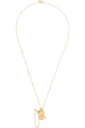 KASUN LONDON Vampire Heart' Halskette aus vergoldetem Sterlingsilber - Metallisch