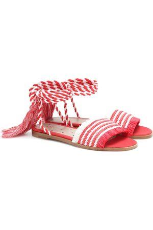 RED(V) Sandalen aus Raffiabast