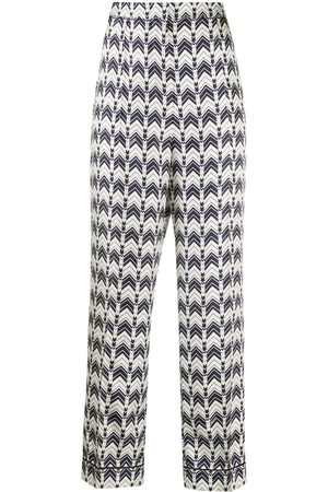 Prada Patterned straight leg trousers