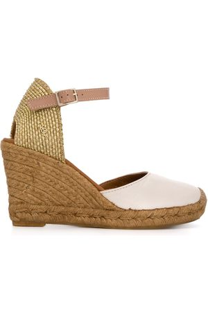 Kurt Geiger London Monty high wedge heel espadrilles - Nude