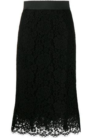 Dolce & Gabbana Midirock aus floraler Spitze