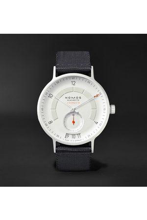 Nomos Glashütte Herren Uhren - Autobahn Neomatik Datum Automatic 41mm Stainless Steel And Nylon Watch, Ref. No. 1301